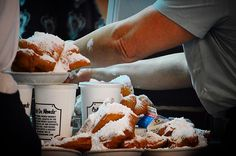 Beignets for Breakfast at Cafe Du Monde. #beignets #powderedsugar #coffee #frenchdonuts #breakfast #cafedumonde #frenchquarter #frenchmarket #decaturstreet #donuts #funnelcake #fritter #pastry #travel #food #foodie #foodporn #neworleans #louisiana #spring #may #2016 #nikon #nikond3200 #followyournola #goodtimes by leeboggspics