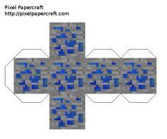 Papercraft All Ores (iron, lapis, diamond, coal, gold, quarts, emerald, redstone) Minecraft Crafts, Minecraft Templates, Minecraft Redstone, Minecraft Images, Hama Beads Minecraft, Minecraft Pixel Art, Minecraft Creations, Minecraft Designs, Minecraft Skins