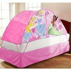 Disney Princess Children Pink Bed Play Tent Suitable For A Twin Size Anger Icon