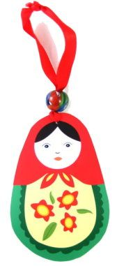 How to make Tree Ornament - Matryoshka Russian Doll - DIY Craft Project with instructions from Craftbits.com