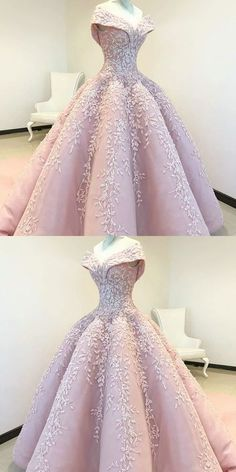 Off the Shoulder Ball Gown Pink Long Prom Dress with Appliques Pink Prom Dress, Appliques Prom Dress, Prom Dresses, Prom Dress Ball Gown, Prom Dress Long Prom Dresses Long Ball Gowns Prom, Ball Gown Dresses, 15 Dresses, Formal Dresses, Pink Ball Gowns, Prom Gowns Elegant, Off Shoulder Gown Evening Dresses, Debut Dresses, Cotillion Dresses