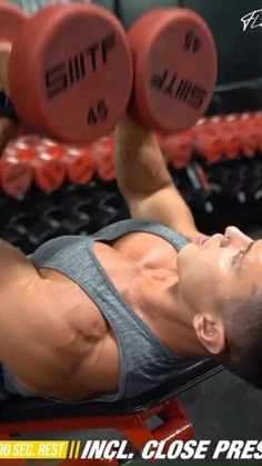 Abs And Cardio Workout, Push Workout, Gym Workouts For Men, Gym Workout Videos, Weight Training Workouts, Gym Workout For Beginners, Fitness Workout For Women, Dumbbell Workout, Chest Workout At Home
