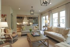 open floor plans, famili room, color, family rooms, kitchen