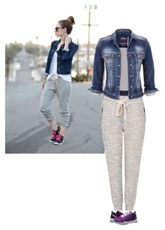 """""""Jogger Denim"""" by chechesings on Polyvore featuring A Fine Line, Reebok and maurices"""