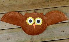 Preschool Crafts for Kids*: Flying Owl Paper Plate Craft