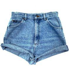 High Waisted Shorts  Denim Cut Offs  Medium Wash di AradDenim, $49.99