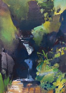 Shadows and Stream Study by Randall David Tipton