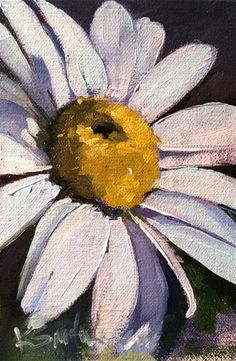 "Daily Paintworks - ""blue daisy"" - Original Fine Art for Sale - © Kim Smith"