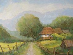 Andrei Branisteanu  - Peisaj la Campulung Routes, Art History, Watercolour, Landscape, Painting, Inspiration, Paintings, Style, Paths