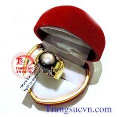 Nhẫn vàng 14k sapphire sao