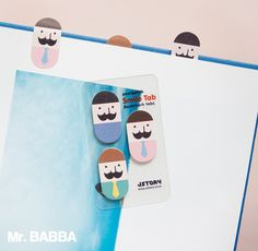 Sticky Note [ Mr. Babba ] / Bookmark / Note pad / Memo pad / Index sticky note by DubuDumo on Etsy https://www.etsy.com/listing/258969492/sticky-note-mr-babba-bookmark-note-pad