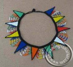 traditional african beadwork necklaces | Traditional Zulu star necklace