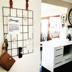 Great way to use the kmart accessory grid by Shabby Chic Kitchen, Diy Kitchen, Kitchen Decor, Kitchen Display, Kitchen Ideas, Kitchen Board, Kitchen Office, Kmart Home, Kmart Decor
