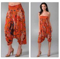 Diane Von Furstenberg 'Kali' harem pants: can also be worn as a ...