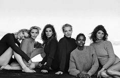 Publication: Vogue Italia September 2015 Model: Eva Herzigova, Nadja Auermann, Cindy Crawford, Tatjana Patitz, Karen Alexander, Helena Christensen Photographer: Peter Lindbergh