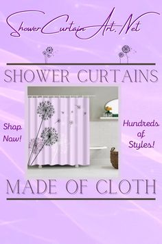 Drastically enhance your bathroom decor with a soft & stylish fabric shower curtain from Shower Curtain Art. Our luxurious high quality fabric shower curtains are all made with 100% premium grade soft polyester cloth. This allows the curtain to drape gracefully while also providing quick drying technology which easily evaporates any unwanted moisture.