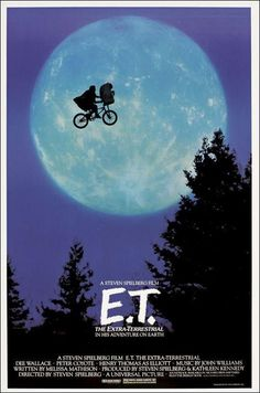 a Steven Spielberg Film for Universal Picture.What can I say the best director today I haven't seen a bad movie from Mr Spielberg ,this brought back awesome memories for me when it came to DVD . Et Movie Poster, Old Movie Posters, Film Posters, Classic Movie Posters, Gig Poster, Original Movie Posters, Music Posters, Poster Prints, 80s Movies