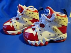 newest collection 94837 a06f1 Nike Air Max CB 94 Charles Barkley USA 76ers Patriots Size 4c (310562 141)  - Baby Shoes