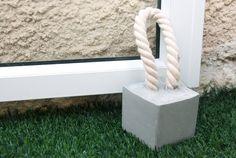 concrete door stopper