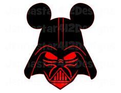 Star Wars Darth Vader Mickey DIY Printable by JennaStar412Designs, $3.00