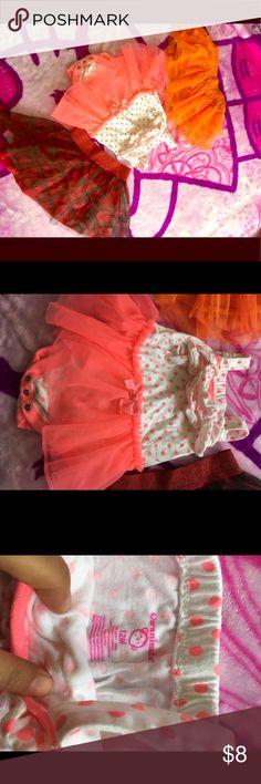 🎀⭐️🍃Baby tutu bundle Sweet tutus 🌺🎀1 tutu Garanimals outfit 12M /1 tutu cute orange 🍊 3-6M but fit perfectly fine with 9 M too and 1 super cute red tutu for 24M all are like new Garanimals Bottoms Skirts