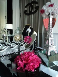 Décor at a Chanel Party #chanel #partydecor