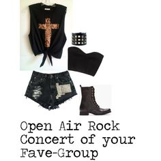 """""""Open Air Rock Conert of your Fave-Group"""" by helena-anastasia on Polyvore"""