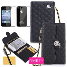 iPhone 4 Case, iPhone 4S Case, OMIU(TM)Deluxe Diamond Quilted Fashion Handbag Clutch Wallet Case with Bling and Creadit Card Holder Cover Protector For iPhone 4 4G 4S(Black),Sent Screen Protector+Stylus+Cleaning Cloth OMIU http://www.amazon.com/dp/B00KQHJXZK/ref=cm_sw_r_pi_dp_i7hhub0NVB99G   $12