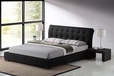 The Valencia Bed is a beautifully unique styled Faux Leather bedstead. A stylish Black Faux Leather offers a modern touch with a contemporary class. Sprung slatted base for extra comfort. Total Weight Limit (Based on 2 People): 40 Stone / 254 kg.