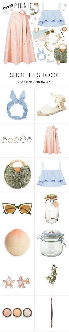 """""""gingham skirt"""" by jesuisunlapin ❤ liked on Polyvore featuring New Look, Iosselliani, Lisa Marie Fernandez, Elie Saab, Fendi, Kitchen Craft, Tony Moly, GreenGate, OKA and By Terry"""