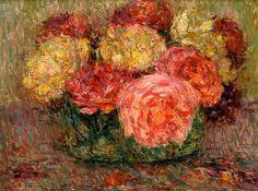 Henri Le Sidaner(1862-1939 - Roses