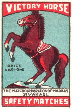 Victory Horse! Vintage Comics, Vintage Posters, Retro Illustration, Comic Illustrations, Matchbox Art, Equine Art, Vintage Labels, Cover Art, Vintage Designs