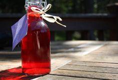 Purple basil vinegar