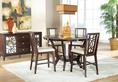 Cindy Crawford Home Highland Park Ebony 5 Pc Counter Height Dining Room.795.0.  Find affordable Dining Room Sets for your home that will complement the rest of your furniture. #iSofa #roomstogo.  Fabulous --but counter height but that's ok!