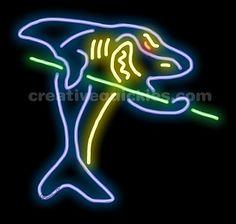 JA 0019 THE POOL ROOM The Pool Room Neon Sign #1: f c849e f3758b2378fcd2 billiards pool neon signs