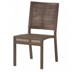 Commercial quality outdoor restaurant and hospitality wicker furniture Miami II side chair available to order now at ContractFurniture.com}