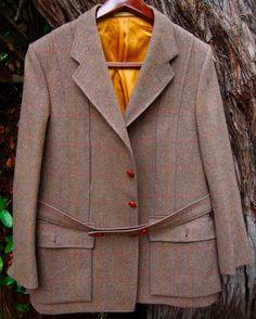 Vintage Gieves Hawkes Norfolk Tweed Windowpane Jacket