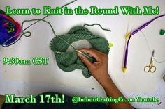 Use this method to make hats, tube scarves, and a number of other projects! This video will use circular knitting needles. Knit In The Round, Crochet Necklace, March, Sunday, Crafting, Learning, Knitting, Youtube, Handmade