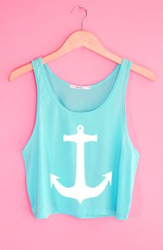 Cute Anchor Crop Tank Top. Definitely wearing this with a singlet underneath though!