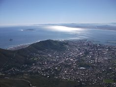 View of Table Bay from Table Mountain African Image, Table Mountain, Mountains, Nature, Travel, Naturaleza, Viajes, Destinations, Traveling