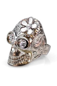 Flower Skull Ring!!! I must have this NOW!!!
