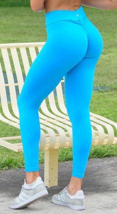 f693aa80f3c0da Brazilian Workout Legging - Scrunch Booty Lift! Deep Sky Blue