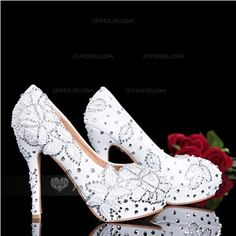 Wedding Shoes - $94.99 - Women's Real Leather Stiletto Heel Closed Toe Pumps With Rhinestone (047046184) http://jjshouse.com/Women-S-Real-Leather-Stiletto-Heel-Closed-Toe-Pumps-With-Rhinestone-047046184-g46184
