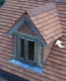 Common Roosting Area on Dormer Window