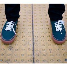 vans authentic gum sole dark denim