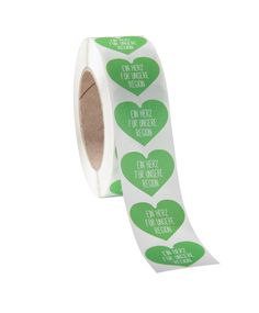 Ein Herz für unsere Region - 100 Stk. Selbstklebeetiketten auf Rolle Paper, Heart, Printing