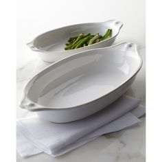 Juliska Medium Au Gratin Dish featuring polyvore, home, kitchen & dining, cookware, whitewash and juliska