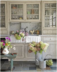 White Kitchen Cabinet Remodel  love the window pane cabinet doors