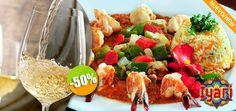 Iyari Restaurant & Bar - $152 en lugar de $305 por 1 Deliciosos Camarones de San Blas en Salsa de Caviar Mexicano + 1 Copa de Vino de la Casa ó 1 Limonada Click http://cupocity.com/