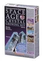 "Space Age Crystals: 4 Crystals ""Aquamarine"", ""Diamond"", ""Azurite"""